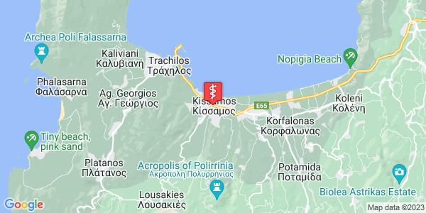 Google Map of Πνευματικάκη, Κίσσαμος, Ελλάδα