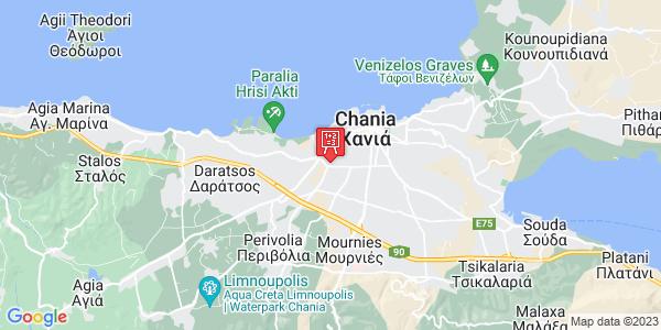 Google Map of Περιβολίων 107, Χανιά 731 00, Ελλάδα