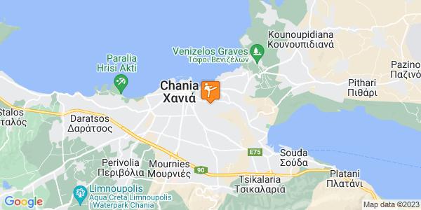 Google Map of Giampoudaki 77, Chania 731 34, Greece