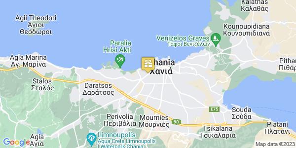 Google Map of Κισσάμου 138, Χανιά, Ελλάδα