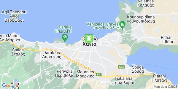 Google Map of Ζυμβρακάκηδων 20, Χανιά 731 36, Ελλάδα