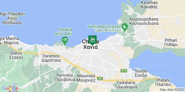 Google Map of Περίδου 7, Χανιά 731 00, Ελλάδα
