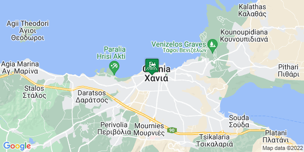 Google Map of Κυδωνίας 142, Χανιά 731 36, Ελλάδα