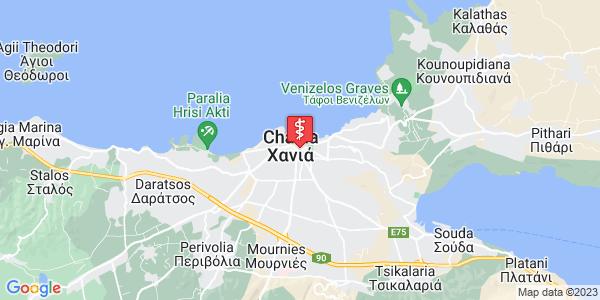 Google Map of Σφακίων 10, Χανιά 731 34, Ελλάδα