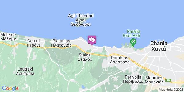 Google Map of Κάτω Στάλος, Στάλος 731 00, Ελλάδα