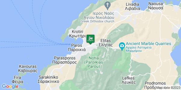 Google Map of 1ο χλμ Παροικιάς Νάουσας, Πάρος 844 00, Ελλάδα