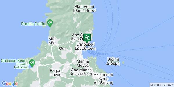 Google Map of Χίου 4, Ερμούπολη 841 00, Ελλάδα