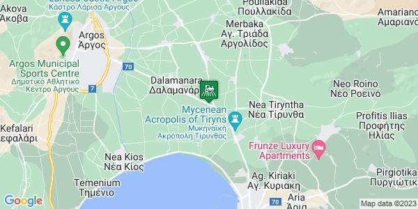 Google Map of 6ο ΧΛΜ, ΕΟ Άργους - Ναυπλίου, Ναύπλιο 211 00, Ελλάδα