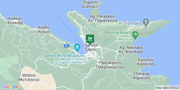 Google Map of Αγίου Νικολάου 8, Σάμος 831 00, Ελλάδα