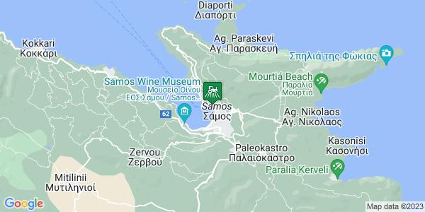 Google Map of Λογοθέτη 22, Σάμος 831 00, Ελλάδα