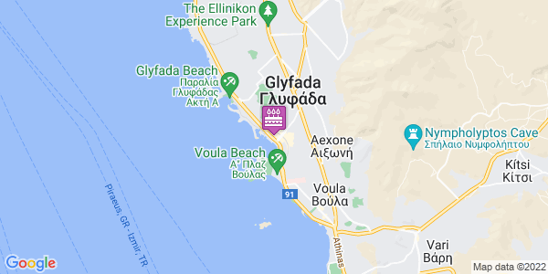 Google Map of Δούσμανη 5, Γλυφάδα 166 75, Ελλάδα