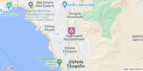 Google Map of Δωδεκανήσου, Αργυρούπολη, Ελλάδα