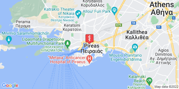 Google Map of Δημ. Γούναρη 21, Πειραιάς 185 31, Ελλάδα
