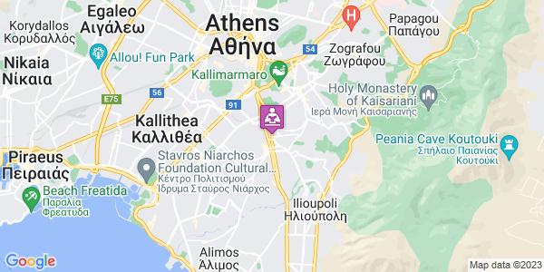 Google Map of Ηλιουπόλεως 120, Δάφνη Αττικής 172 37, Ελλάδα