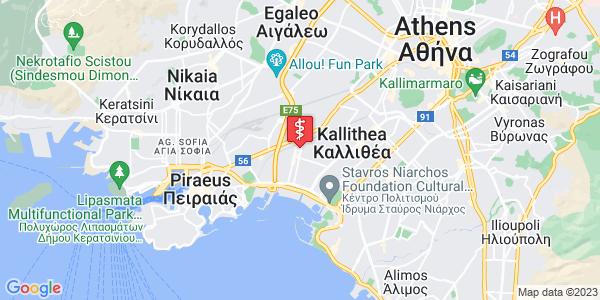 Google Map of Κοραή 31, Μοσχάτο 183 45, Ελλάδα