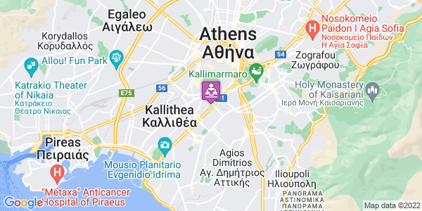 Google Map of Λεωφόρος Ανδρέα Συγγρού 136 Φραγκούδη Πάντου, Αθήνα 176 71, Ελλάδα