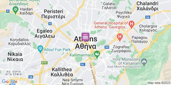 Google Map of Αθήνα, Ελλάδα
