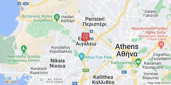 Google Map of Θηβών 368, Αιγάλεω 122 41, Ελλάδα