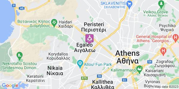 Google Map of Δημαρχείου 66, Αιγάλεω 122 42, Ελλάδα