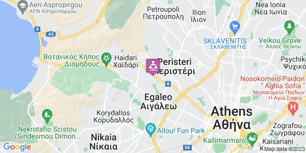 Google Map of Αγίου Σπυρίδωνος, Αιγάλεω 122 43, Ελλάδα