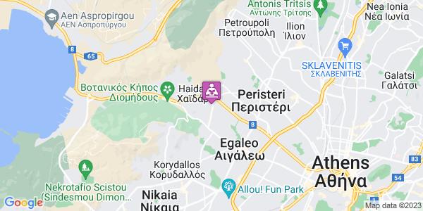 Google Map of Καραϊσκάκη 97, Χαϊδάρι 124 61, Ελλάδα