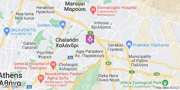 Google Map of Σωτήρος 2, Αγ. Παρασκευή 153 43, Ελλάδα
