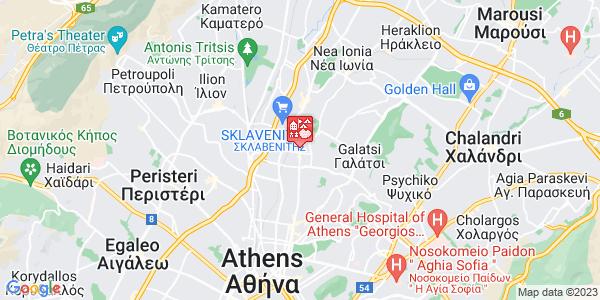 Google Map of Πατησίων 339, Αθήνα 111 44, Ελλάδα