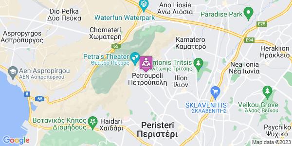 Google Map of Αθανασίου Διάκου 59, Πετρούπολη 132 31, Ελλάδα