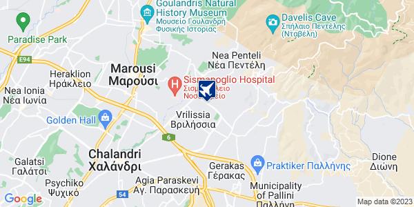 Google Map of Αναπαύσεως 18, Βριλήσσια 152 35, Ελλάδα