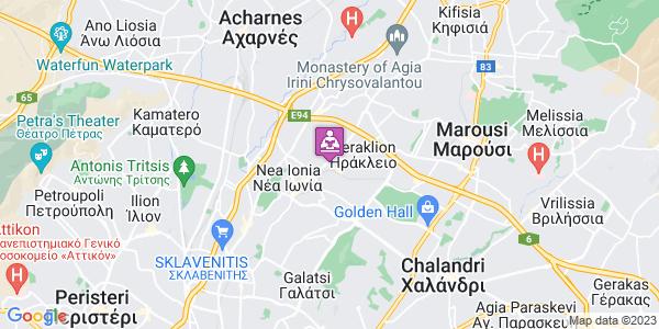 Google Map of Κουντουριώτου 18, Ηράκλειο 141 22, Ελλάδα