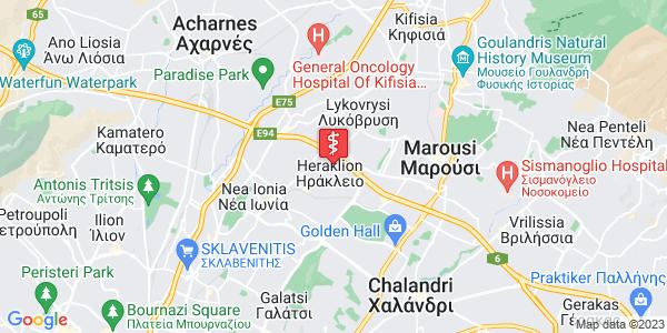 Google Map of Πρασίνου Λόφου, Ηράκλειο, Ελλάδα