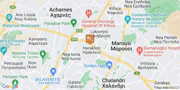Google Map of Κωνσταντινουπόλεως 17, Heraklion, 141 22, Greece
