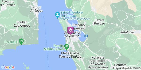 Google Map of Πυλαρινού, Αργοστόλι 281 00, Ελλάδα