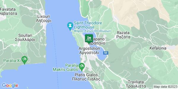 Google Map of ΤΡΙΤΣΗ 37, Αργοστόλι 281 00, Ελλάδα