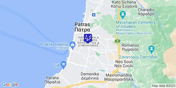 Google Map of Dimitropoulou 10, Patra 262 26, Greece