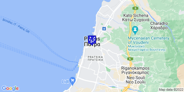 Google Map of Ioannou Vlachou 4, Patra 262 22, Greece