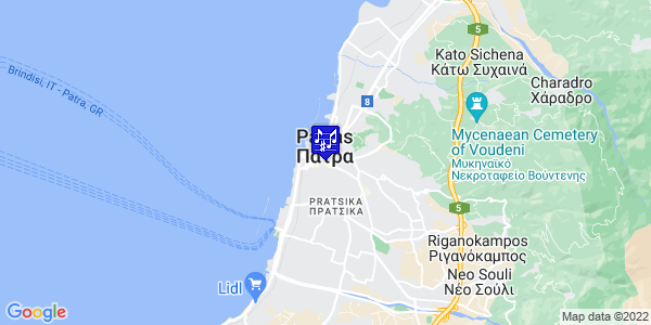 Google Map of Ioannou Vlachou 1, Patra 262 22, Greece