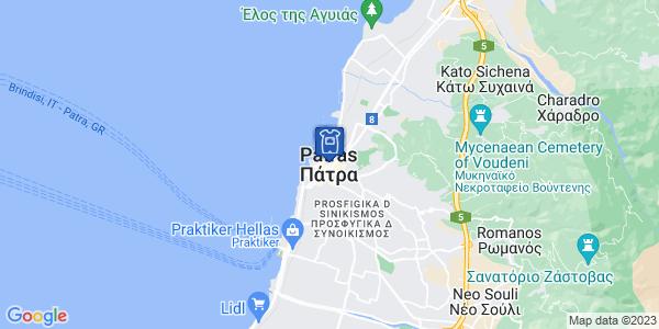 Google Map of Πάτρα, Αχαΐα, Ελλάδα