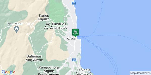 Google Map of Αργέντη 24, Χίος 821 00, Ελλάδα