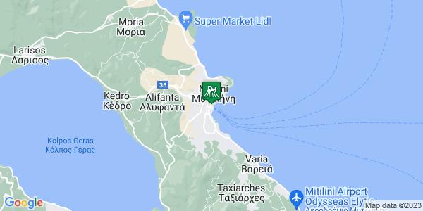 Google Map of Λεωφ. Οδυσσέα Ελύτη 20, Μυτιλήνη 811 00, Ελλάδα