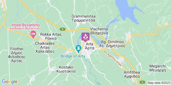 Google Map of 15,, Νικ. Πλαστήρα 13, Άρτα 471 00, Ελλάδα