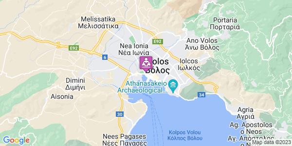 Google Map of Μεταμορφώσεως 2, Βόλος 383 33, Ελλάδα