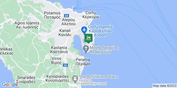 Google Map of Παλαιόπολης 77, Κέρκυρα 491 00, Ελλάδα