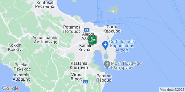 Google Map of 1o Km Ethnikis Leykimmhs, Κέρκυρα 491 00, Ελλάδα