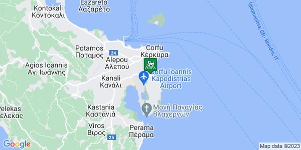 Google Map of Αλκίνοου 140, Κέρκυρα 491 00, Ελλάδα