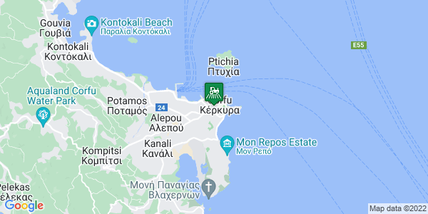 Google Map of Αγίας Σοφίας 12, Κέρκυρα 491 00, Ελλάδα