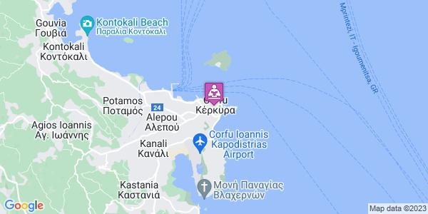 Google Map of Κέρκυρα, Ελλάδα