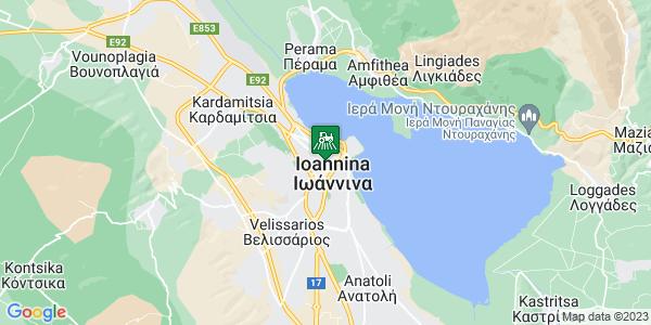 Google Map of Φώτου Τζαβέλλα 2, Ιωάννινα 453 33, Ελλάδα