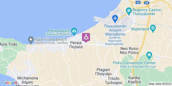 Google Map of Προμηθέως & Λεωφόρος Θεσ/νίκης-Μηχανιώνας, Perea 570 19, Ελλάδα