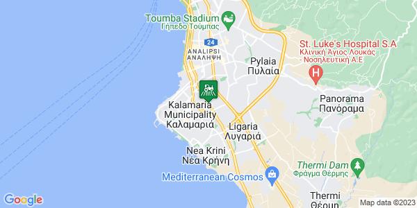 Google Map of Εθ. Αντίστασης 30, Καλαμαριά 551 33, Ελλάδα